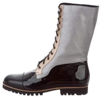 Rodarte Metallic Lace-Up Boots w/ Tags