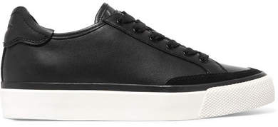 rag & bone - Army Suede-trimmed Leather Sneakers - Black
