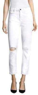 7 For All Mankind Jen7 by Distressed Knee Skinny Jeans