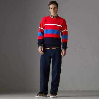 Burberry Reissued Lambswool Sweater, Red