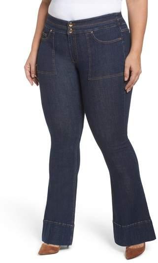 ASHLEY GRAHAM X MARINA RINALDI Idrofono Super Stretch Flared Jeans