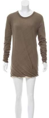 Rick Owens Long Sleeve Jersey Dress