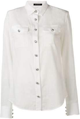 Balmain decorative button shirt