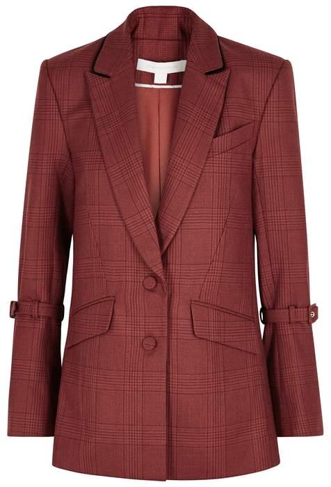 Red Checked Wool Blazer