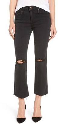 Women's Joe's 'The Olivia' Ripped Crop Flare Jeans $198 thestylecure.com