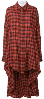 Faith Connexion longline checked shirt dress