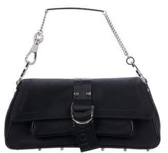 Christian Dior Crystal-Embellished Satin Hardcore Bag