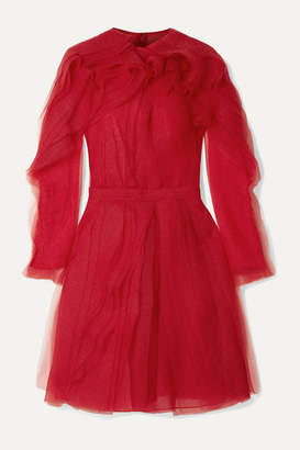 Jason Wu Collection - Ruffled Crinkled-organza Dress - Red
