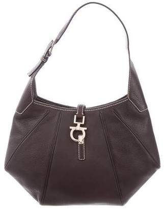 Salvatore Ferragamo Cinghiale Leather Hobo