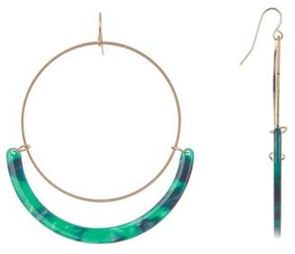 Black Diamond ACCESSORIES Full Circle Acetate Tortoise Hoop Earrings