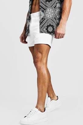 Short Length Slim Fit Chino Short In White