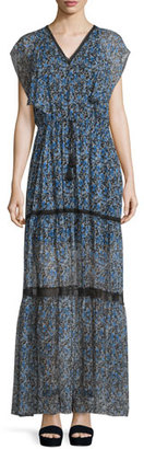 Elie Tahari Sanna Drawstring-Waist Tiered Maxi Dress $548 thestylecure.com