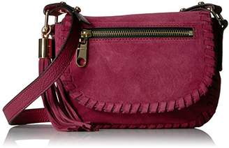 Milly Astor Suede Whipstitch Small Saddle