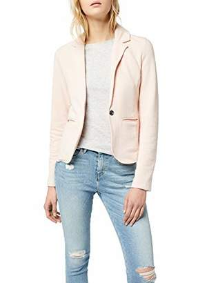 Only Women's Onlclaudia L/s Blazer SWT Suit Jacket, Blue Night Sky, (Size: Large)