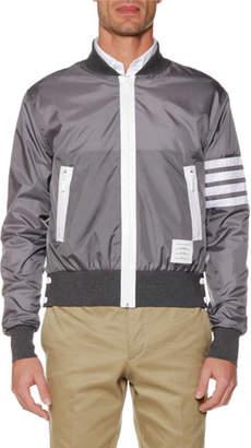 Thom Browne 4-Bar Lightweight Ripstop Bomber Jacket
