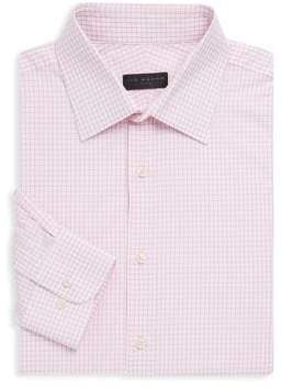 Ike Behar Poplin Check Button-Up Shirt