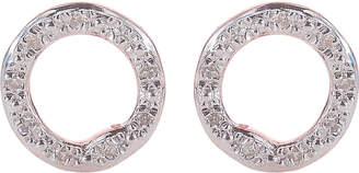 Monica Vinader Riva 18ct rose-gold vermeil pavé diamond circle stud earrings