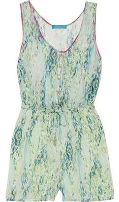 Matthew Williamson Snake-Print Silk-Chiffon Playsuit