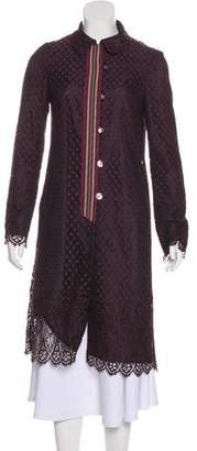 Christian Lacroix Embroidered Lace Long Coat