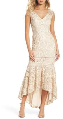 Adrianna Papell Guipure Lace Gown