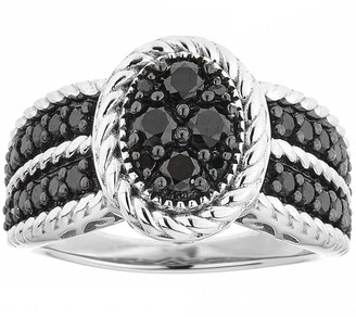 Black Diamond Affinity Diamond Jewelry Affinity 1.00 cttw Cluster Ring, Sterling