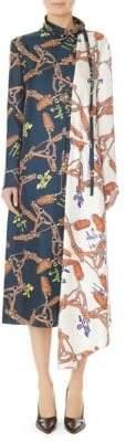 Tibi Colorblock Flap Dress