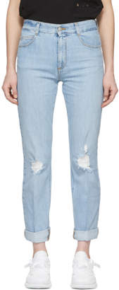 Stella McCartney Blue Straight Boyfriend Jeans