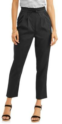 L.N.V Women's Paper Bag Waist Pants