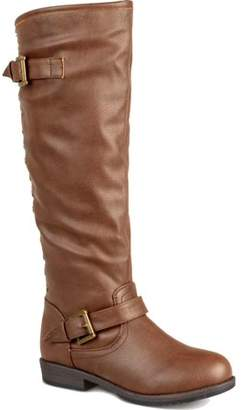 Brinley Co. Womens Wide Calf Studded Knee-High Riding Boot