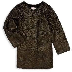 Billieblush Toddler's, Little Girl's& Girl's Textured Faux Fur Coat