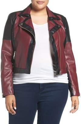 Tart 'Justine' Colorbock Faux Leather Jacket