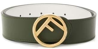 Fendi round buckle reversible belt