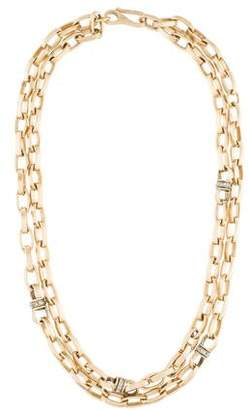 Margo Morrison Small Pearl & Swarovski Crystal Station Necklace, 35