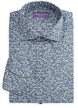 Ralph Lauren Purple Label Men's Aston NK Slim-Fit Floral Sportshirt