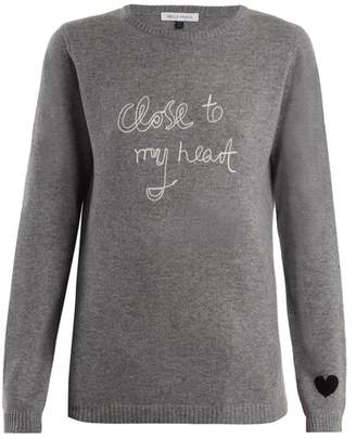 Bella Freud - Close To My Heart Cashmere Sweater - Womens - Grey