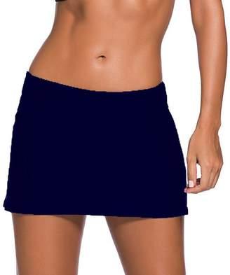 Bsubseach Womens Plus Size Swim Skirt Waistband Skort Bikini Bottom Large