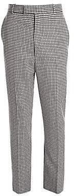 Alexander McQueen Men's Houndstooth Virgin Wool Cirgarette Pants