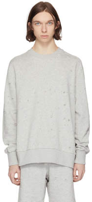 Diesel Grey S-Graham Distress Sweatshirt