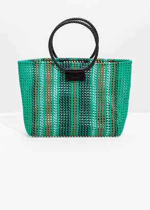 And other stories Woven Plastic Tote