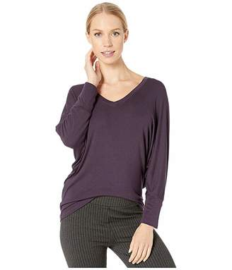 Michael Stars Chelsea Rib Jackie Long Sleeve Dolman Top