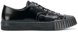 Adieu Paris varnished lace-up sneakers
