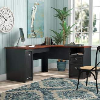 Beachcrest Home Oakridge L-Shaped Computer Desk