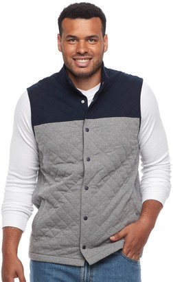 Croft & Barrow Big & Tall Outdoor Quilted Fleece Vest