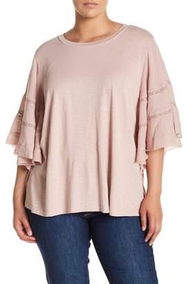 Susina 3/4 Sleeve Knit Blouse (Plus Size)