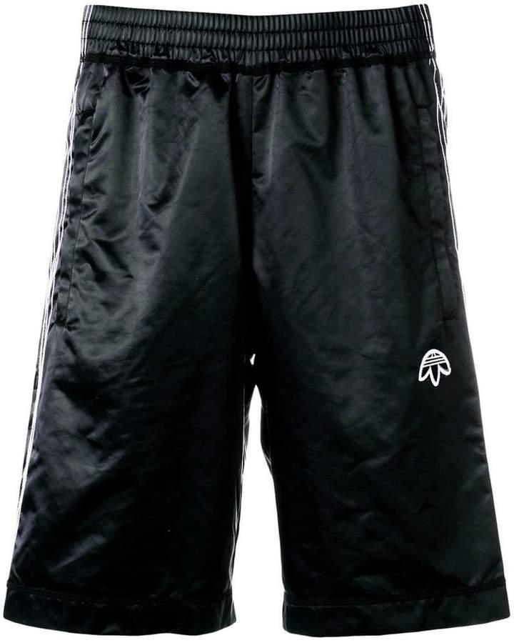 Adidas Originals By Alexander Wang Shorts mit Logo-Stickerei