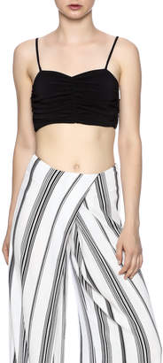 KENDALL + KYLIE Ruched Crop Bustier