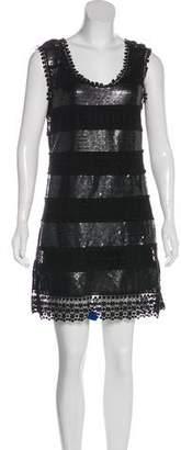 Philosophy di Alberta Ferretti Embroidered Sequin Dress