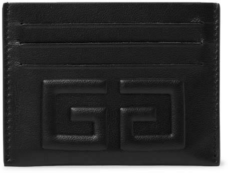 Givenchy Embossed Full-Grain Leather Cardholder