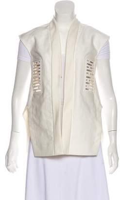 Rick Owens Laser Cut Open-Front Vest w/ Tags