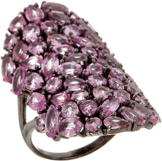 Pink Sapphire Ring, 10.50 cttw, Sterling Silver